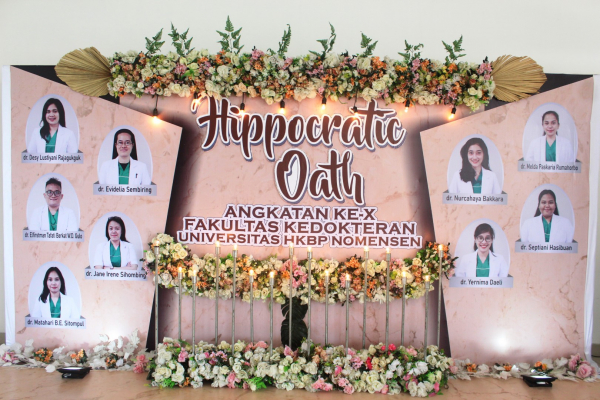 Angkat Sumpah Dokter Angkatan X FK UHN Medan : Dokter Muda Harus Menjadi Garam dan Terang Dunia
